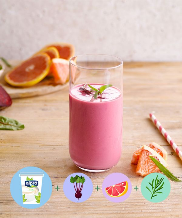 Wake up with the Red Velvet Smoothie for breakfast! Alpro Simply Plain ...