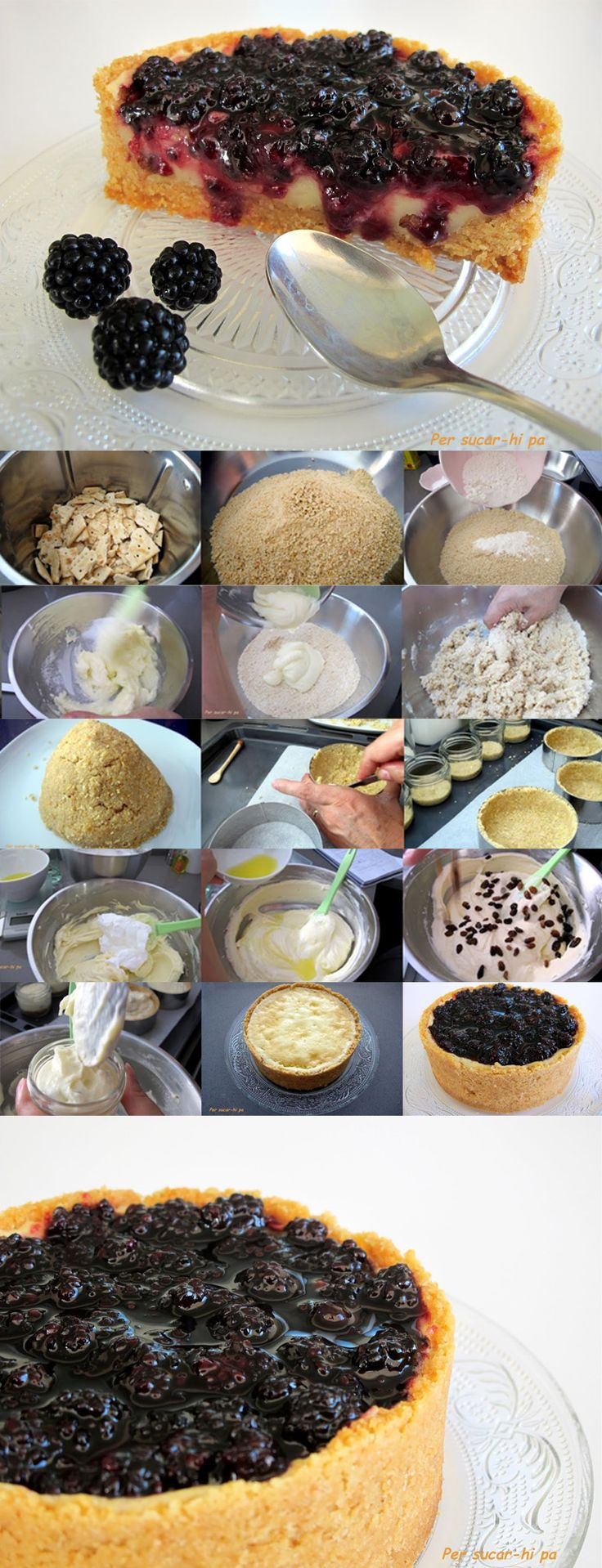 Pecados de Reposteria Tarta de queso con mermelada de moras - Pecados de Reposteria