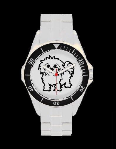 Stylish Maltese dog wrist watch - http://www.zazzle.co.uk/maltese_dog_wristwatch-256770537031662776
