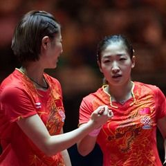 Table tennis world championships: women's doubles semifinal