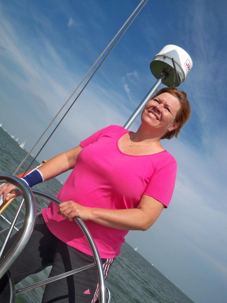 De allereerste keer met alleen Vrouwen-aan-het-Stuur aan boord van SY Octopus