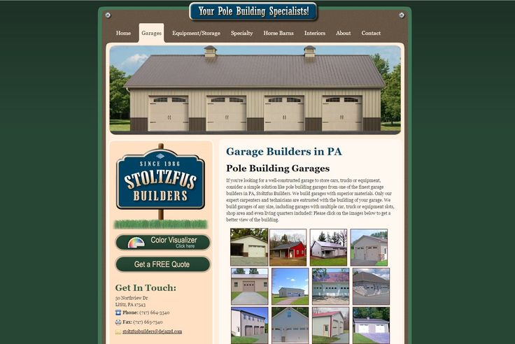 Residential and commercial property owners alike trust the garage experts at Stoltzfus Builders to create the perfect pole barn garage for their specific needs. These genuine, Amish craftsmen build durable, custom metal barns and garages for storing boats, vehicles, pool supplies, and more! For outdoor storage solutions from dedicated garage builders in PA, MD, NJ, & DE, call Stoltzfus Builders today.