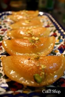 Qatayef in Egypt is a dessert reserved for the Muslim holiday of Ramadan, a sort of sweet crêpe filled with cheese or nuts.