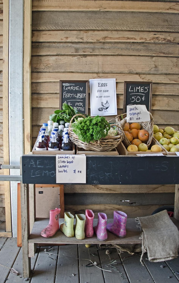 Organic food at the Collingwood Childrens Farm