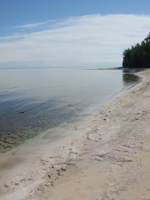 All white Shell beach. Door County Wi