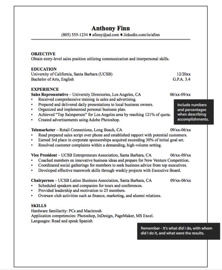 17 best ideas about sales resume on pinterest