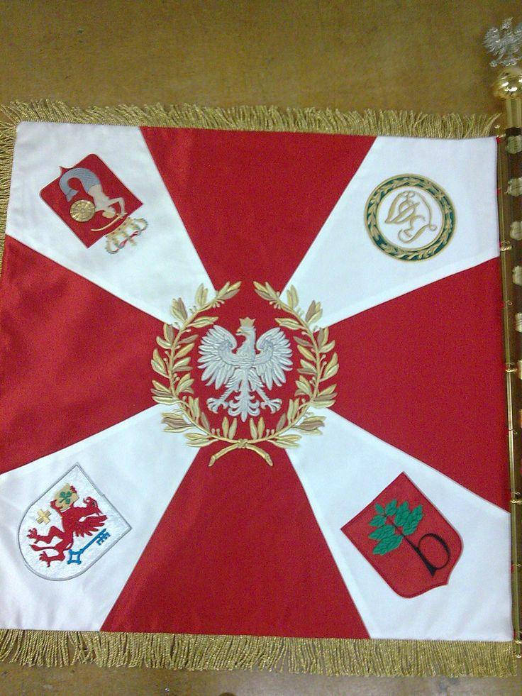 Sztandar Gimnazjum im. 36 pułku piechoty Legii Akademickiej strona 2. wykonany w AHA STUDIO