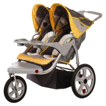 In Step Grand Safari Swivel Wheel Jogger - Double Gray/Yellow , $170.99 from Target