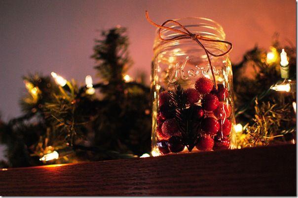 spruce & berry filled mason jars