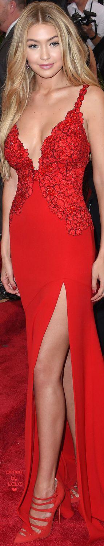 Gigi Hadid in Diane Von Furstenberg 2015 MET Gala | LOLO❤︎ ~ via Marguerite Burrill
