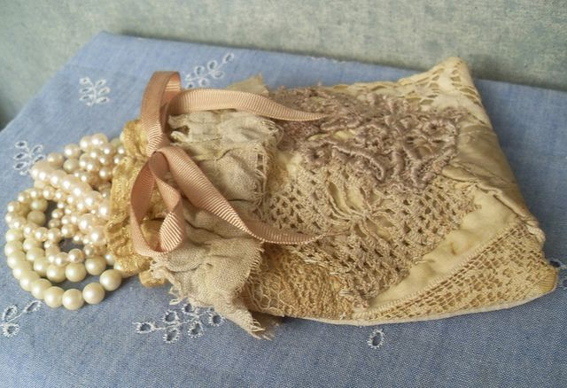 Vintage Lace Jewelry Pouch upcycled textiles by Resurrection Rags, via Flickr