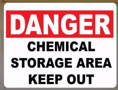 Where Is The Best Storage Area For Chemicals Kitchen