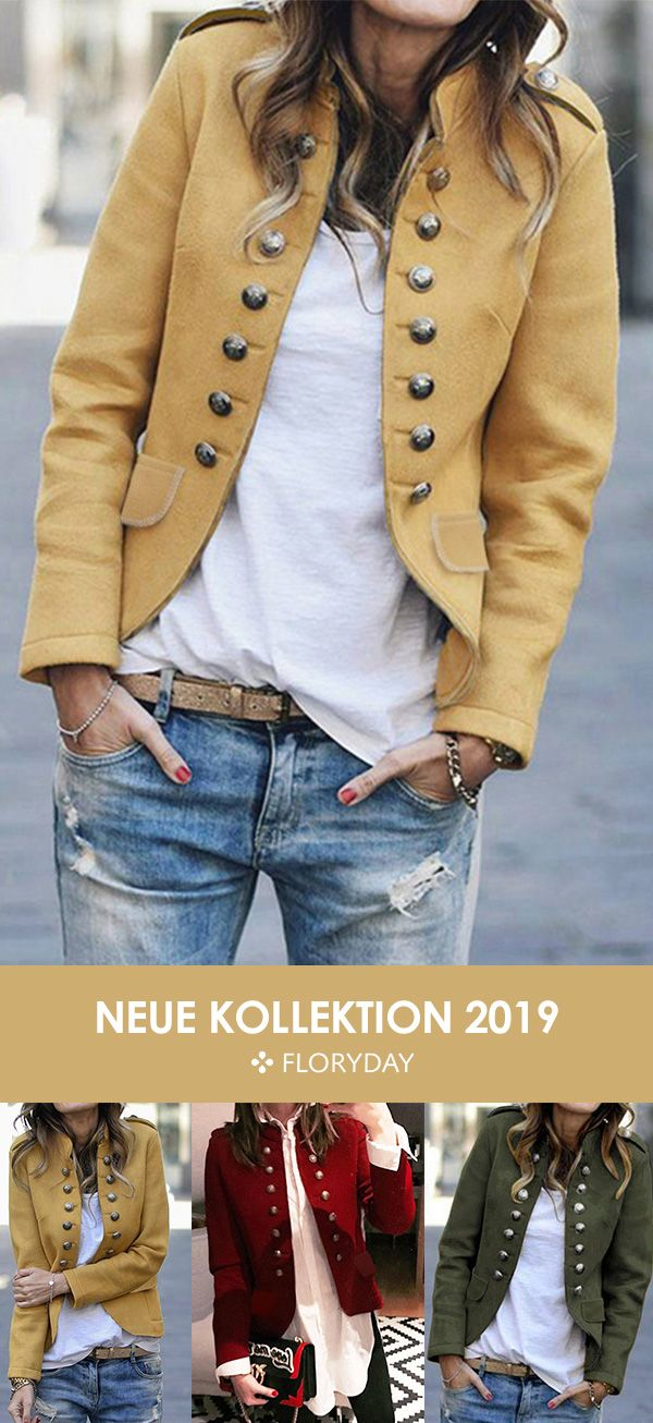 Jacke mit langen Ärmeln und hohem Ausschnitt – Coats – Keep style always