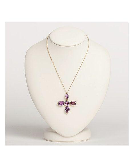 Amethyst quatrefoil necklace