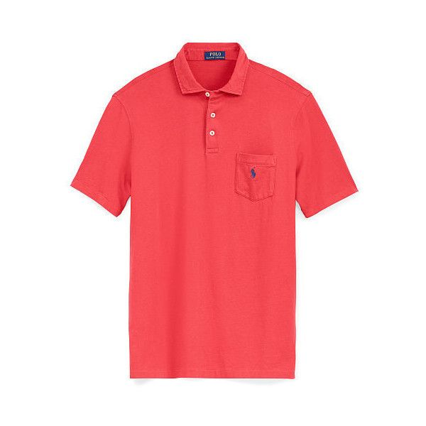 Ralph Lauren Big & Tall Classic Fit Cotton Jersey Polo ($50) ❤ liked on Polyvore featuring men's fashion, men's clothing, men's shirts, men's polos, mens tall polo shirts, mens tall shirts, polo ralph lauren mens shirts, men's classic fit dress shirts and mens polo shirts