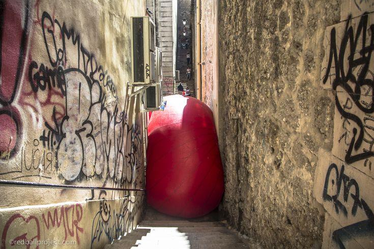 RedBall Marseille - Place Sadi Carnot   Artist: Kurt Perschke   Photographer: Brittany Worgan #redballproject