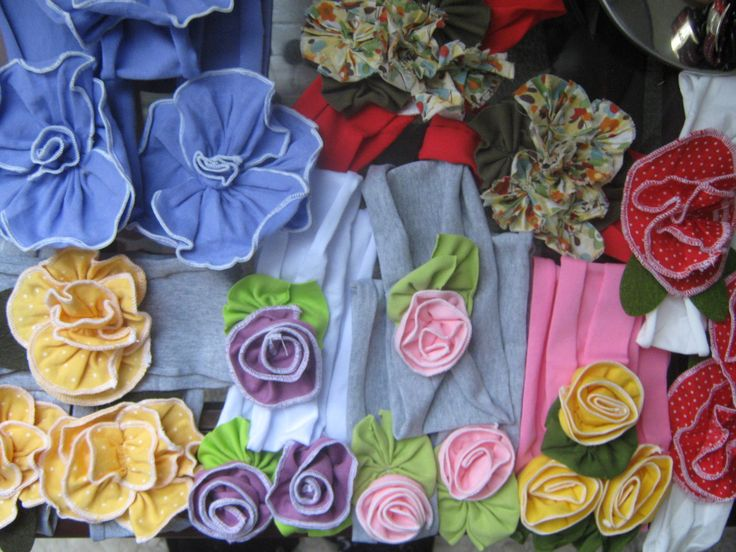 Cotton Fabric headbands. Home sewed machine. Cute!