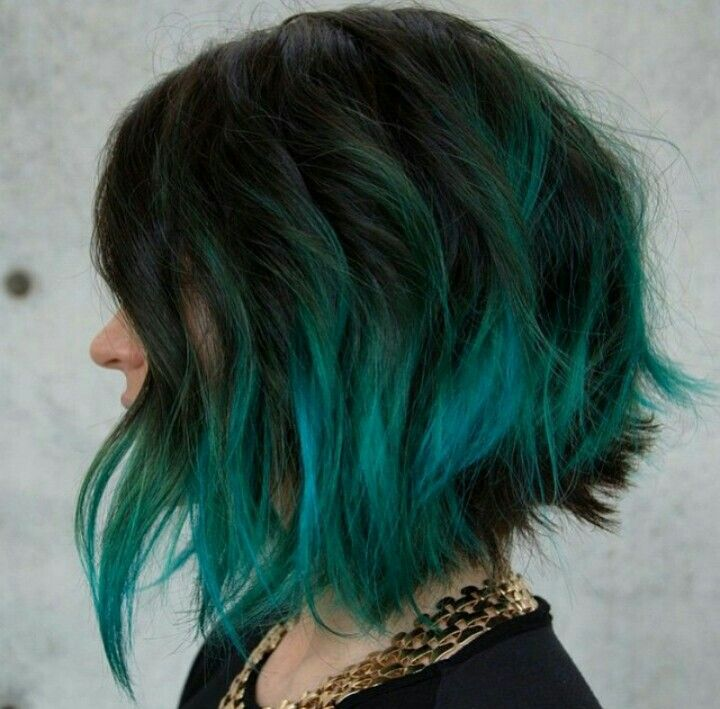 Best 25+ Teal Hair Highlights Ideas On Pinterest