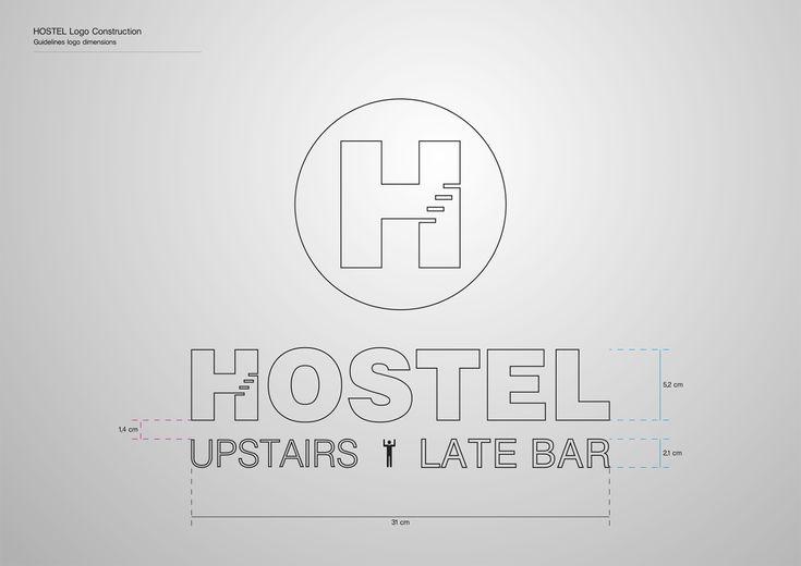 Corporate Identity Hostel_Upstairs_Late Bar_Logo dimensions_3_Yianart