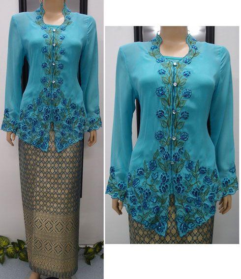 Kebaya merupakan busana tradisional Indonesia yang terbuat dari bahan tipis dan umumnya dikenakan dengan batik, sarung, atau kain songket.