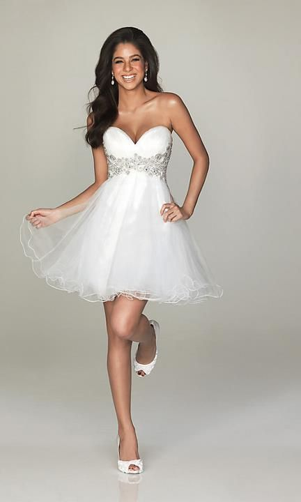 Spectacular cute reception dress for the bride