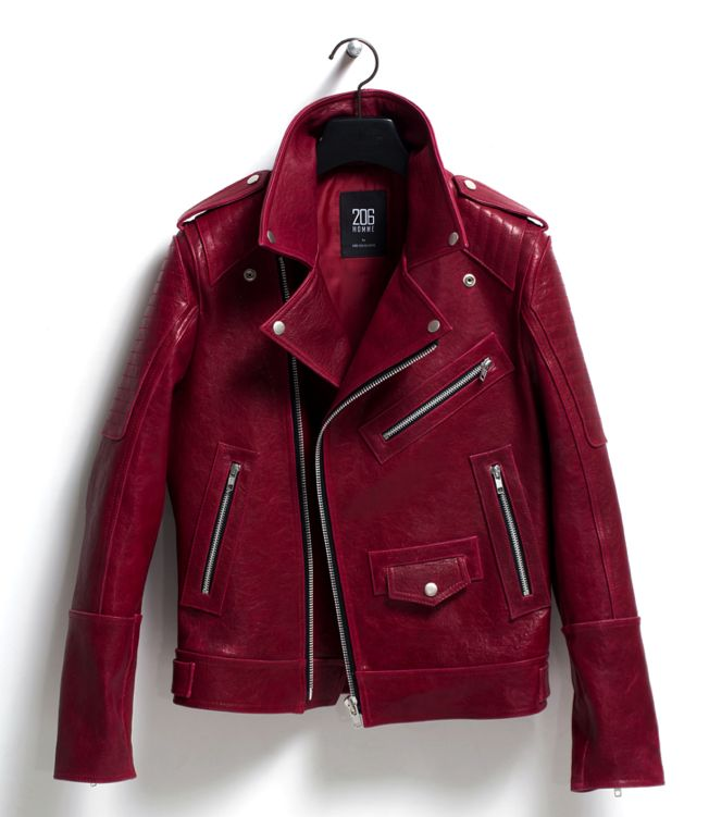 Garnet Colored Leather Jacket<< What?? This is know as 'The Emma Swan Jacket'!