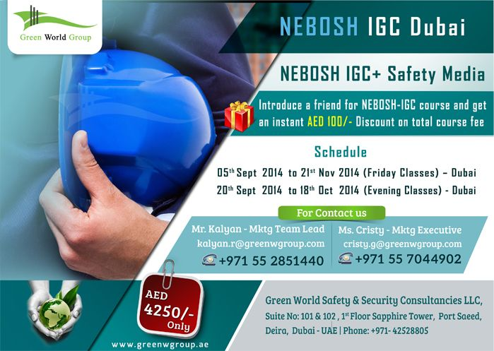 GWG Attractive Offers For Nebosh IGC At Dubai