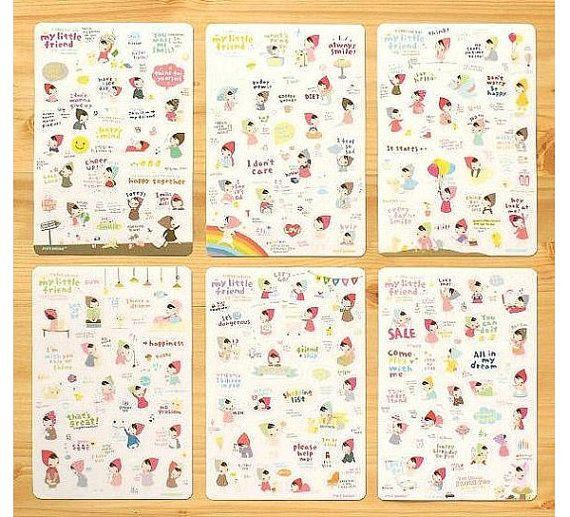 6 Blätter Cute Kawaii Koreanisch MY LITTLE von SweetSundayGifts