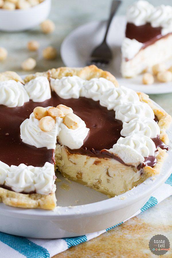 White Chocolate Macadamia Pie | Taste & Tell Blog | Almost no-bake, this is…
