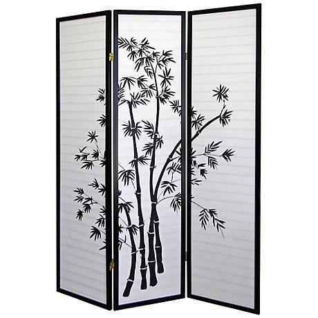 bamboo shoji paper 3panel room divider