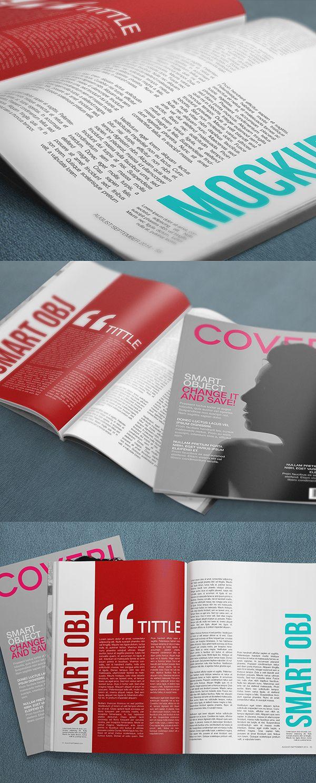 37 Free PSD Magazine, Book, Cover & Brochure Mock-ups