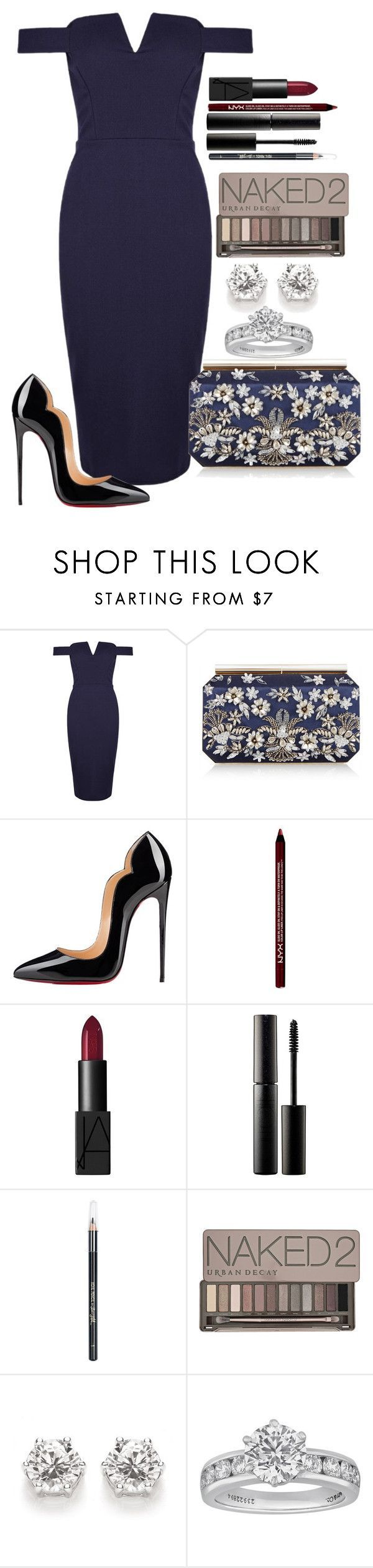 """Untitled #1267"" by fabianarveloc on Polyvore featuring Oscar de la Renta, Christian Louboutin, NARS Cosmetics, Surratt, Barry M, Urban Decay and Tiffany & Co."