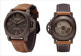 PANERAI LUMINOR MARINA black brown Leather Automatic