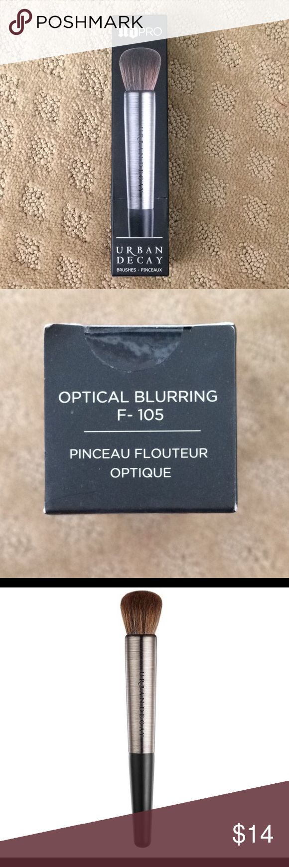 Optical blurring brush by Urban Decay Amazing brush for applying foundation. Can also be used to contour or to apply blush. Product is vegan. Item is brand new and authentic. The box has never been opened. Urban Decay Makeup Brushes & Tools