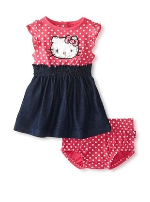 67% OFF Hello Kitty Baby Polka Dot Dress Set (Fuchsia)