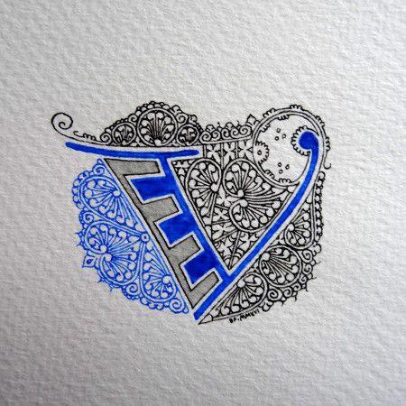 Anachropsy - Calligraphie latine par Benoit Furet - V