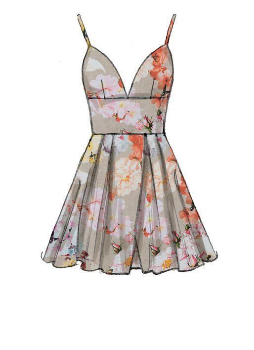McCall s M7719 Misses  Dresses  sewingpattern Klänning Skisser 1f73e1ea20c9a
