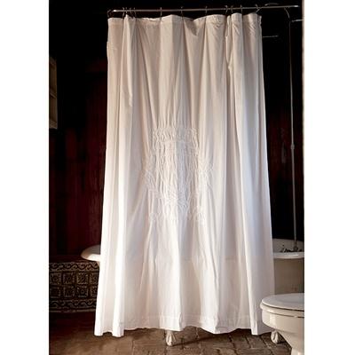 Rachel Ashwell Shabby Chic Couture Monogram Shower Curtain