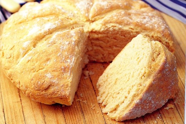 Damper - yeast free bread originally cooked on camp fires or in a dutch oven and buried in hot coals. I often cook in the micro wave if in a hurry. Will not keep so if you can't use it the same day, freeze it. Excellent with stews and soups.
