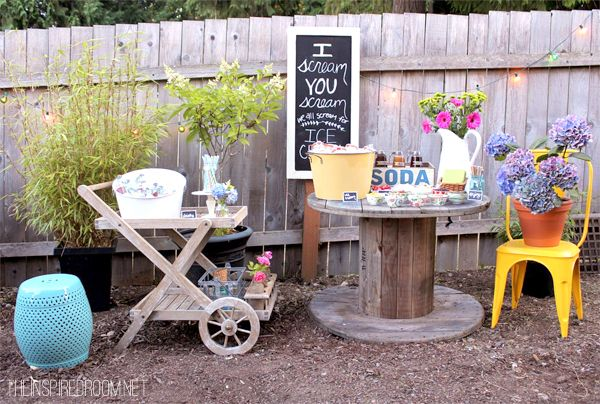 Backyard Ice Cream Party | The Inspired Room
