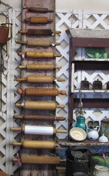 rolling pins on an awesome organizing rack