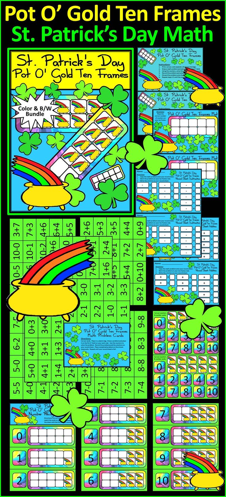133 best * March and St. Patrick\'s Math Ideas images on Pinterest ...