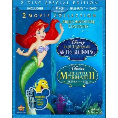 The Little Mermaid II: Return to the Sea/The Little Mermaid: Ariel's Beginning (3 Discs) (Blu-ray/DVD)