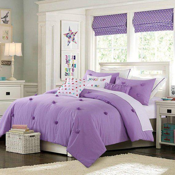 Anna Purple Christmas Comforter Set Pom Pom Kids Mulan Designs in