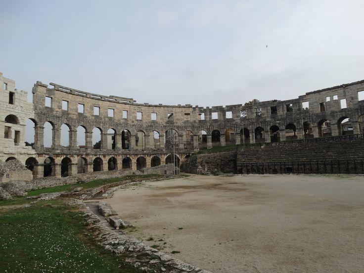 Das wunderschöne Amphitheater in Pula