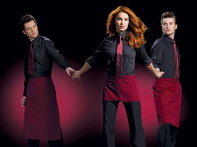 Restaurant server attire | ... . The uniforms in the two photos above come from Town and Country