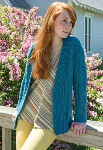 Cozy Cable Knit Cardigan - Bundle up this winter with the Cozy Cable Knit Cardigan. This gorgeous knitting pattern is full of intricate stitches and detail, including stunning cables that run the length of the entire cardigan.