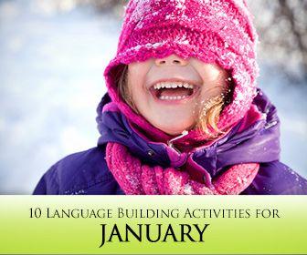 10 January Themed Language Building Activities