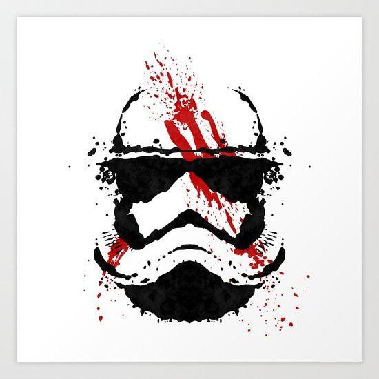 Stormtrooper Ink Blot - Finn Art Print