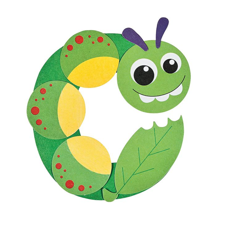C Is For Caterpillar Letter C Craft Kit - OrientalTrading.com
